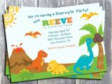 Dinosaur themed Party Invitations Cretaceous Dinosaur Birthday Party Invitations Bagvania