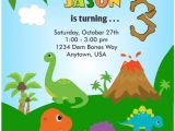 Dinosaur themed Party Invitations Custom Dinosaur Invitation orderecigsjuice Info