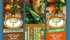 Dinosaur Train Birthday Invitations Free Personalized Dinosaur Train Ticket Style Birthday