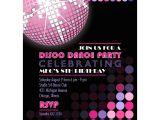 Disco Party Invites Printable Disco Birthday Party Printable Invitation