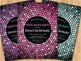 Disco Party Invites Printable Disco Dance Party Birthday Invitation Girl Birthday Party