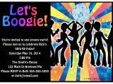 Disco theme Party Invitations 1970s Disco Dance Birthday Party Invitations Crafty