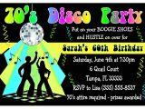 Disco theme Party Invitations 70s Disco Party Invitations Newhairstylesformen2014 Com