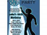 Disco theme Party Invitations Disco Ball 70 39 S theme Any Age Birthday Party Invitation Boy