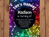 Disco theme Party Invitations Free Dance Party Invitations Dance Birthday Invitation Disco