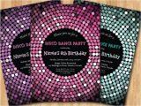 Disco theme Party Invitations Free Disco Dance Party Birthday Invitation Girl Birthday Party