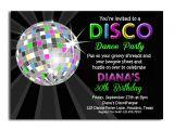Disco theme Party Invitations Free Disco Party Invitations Disco Party Invitations with some