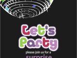 Disco theme Party Invitations Free Free Printable Disco Party Invitation orderecigsjuice Info
