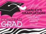 Discount Graduation Invitations Pink Zebra Grad Personalized Invitation Discount