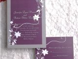 Discounted Wedding Invitations Cheap Rustic Floral Plum Wedding Invitations Ewi001 as Low