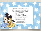 Disney Baby Shower Invites Disney Baby Mickey Pluto Baby Shower Invitations
