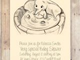 Disney Baby Shower Invites Disney Dumbo Baby Shower Invitation by Flurgdesigns On