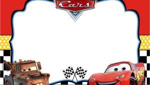Disney Cars Birthday Invitation Template Free Cars Invitation Template In 2019 Disney Cars Birthday
