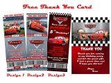 Disney Cars Birthday Invitations Tickets Disney Cars Birthday Invitation Tickets Ticket Style Invite