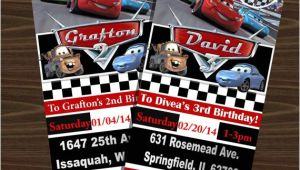 Disney Cars Birthday Invitations Tickets Disney S Cars Ticket Invitations with or without by