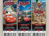 Disney Cars Birthday Invitations Tickets Personalized Disney Cars 2 Birthday Ticket Invitation Card