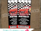Disney Cars Birthday Invitations Tickets Pixar Cars Ticket Birthday Invitations 2