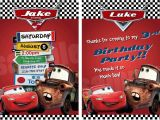 Disney Cars Birthday Party Invitations Templates Disney Cars Birthday Invitations