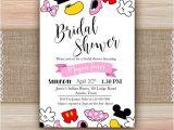 Disney Inspired Bridal Shower Invitations Disney Bridal Shower Invitation Printable Disney Engagement