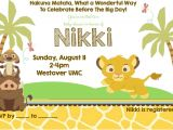 Disney Lion King Baby Shower Invitations Disney Baby Shower Invitations