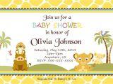 Disney Lion King Baby Shower Invitations Simba Lion King Shower Invitations Baby Shower Custom