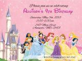 Disney Princess Birthday Invitations Free Templates Disney Princesses Birthday Invitations Disney Princess