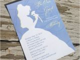 Disney Princess Bridal Shower Invitations Disney Beauty and the Beast Belle Bridal Shower Invitation