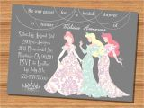 Disney Princess Bridal Shower Invitations Princess Wedding Shower Invitation Disney Princesses