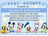 Disney themed Baby Shower Invites Disney World Baby Shower Invitations
