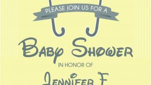 Disney themed Baby Shower Invites Winnie the Pooh and Friends Baby Shower