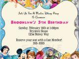 Disney themed Party Invitations Disney Characters Birthday Party Custom by
