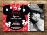 Disney themed Party Invitations Disney Mickey Mouse theme Photo Birthday Party Invitation