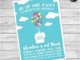 Disney themed Party Invitations Disney Up Birthday Invite Up Birthday One Sided Disney