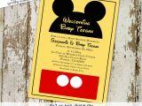 Disney themed Party Invitations Mickey Mouse Birthday Invitation Disney themed Baby Shower