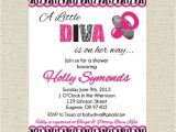 Diva Baby Shower Invitations Little Diva Baby Shower Invitation by Gigglesandgracedesig