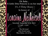 Diva Baby Shower Invitations Little Diva Baby Shower Invitation You Print by
