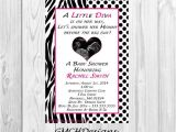 Diva Baby Shower Invitations Little Diva Baby Shower Invitations Personalized with