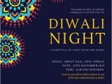 Diwali Party Invite Template Diwali Night Invitation Card Templates by Canva