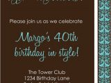 Diy 40th Birthday Invitations Diy Printable Invitation Birthday Party Birthday