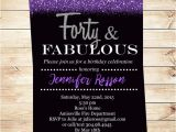 Diy 40th Birthday Invitations forty and Fabulous Printable Party Invitations 40th