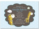 Diy Baby Shower Invitations for Boys Diy Giraffe Invitations Weddingbee 2015