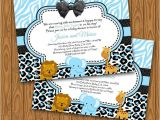 Diy Baby Shower Invitations for Boys Safari Baby Shower Invitations for A Baby Boy Diy by