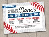 Diy Bachelorette Party Invitations Diy Printable Baseball Bachelorette Invitation