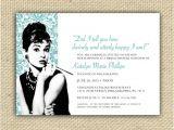 Diy Breakfast at Tiffany S Bridal Shower Invitations Breakfast at Tiffany 39 S Audrey Hepburn Customized Diy