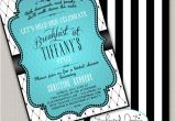 Diy Breakfast at Tiffany S Bridal Shower Invitations Breakfast at Tiffanys Bridal Shower by Enchanteddesigns4u