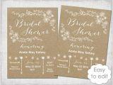 Diy Bridal Shower Invitations Templates Bridal Shower Invitation Template Rustic Printable