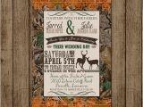 Diy Camo Wedding Invitations Customized Wedding Invitation Camo orange Deer