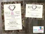 Diy Camo Wedding Invitations Hooked On Love Camo Wedding Invitation and Rsvp Card