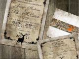Diy Camo Wedding Invitations Rustic Distressed Camo Tree Wedding Invitation Suite Wth Deer