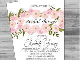 Diy Free Printable Bridal Shower Invitations Bridal Shower Invites Printable Wedding Shower Invitation